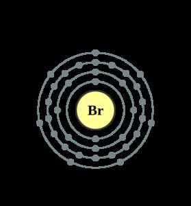 Электронная оболочка брома